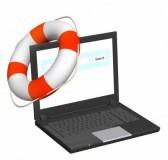 10559991-concept-de-internet--aide-dans-le-monde-virtuel-ordinateur-portable-et-bouees-de-sauvetage-isole-sur