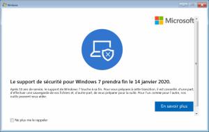 Fin du support Microsoft de Windows 7